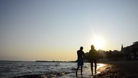 Härlig ung tonårig applicerande solkvarterkräm stock video