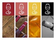 Härlig uppsättning av vinbilder Royaltyfria Foton