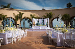 Härlig utomhus- bröllopmötesplats Royaltyfria Foton