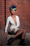 härlig utomhus- stående för modemodell Arkivfoton