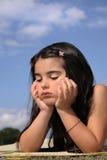 härlig uttråkad flicka little Fotografering för Bildbyråer