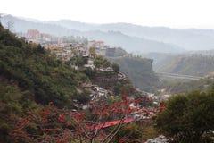 Härlig väg av dalen Fotografering för Bildbyråer