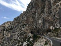 Härlig väg i Majorca arkivfoton