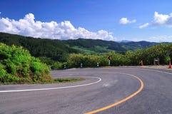 Härlig väg i Thailand Royaltyfri Fotografi