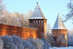 Härlig vägg av slotten Arkivfoton