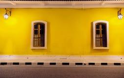 Härlig vägg på den franska kolonin, Pondicherry Royaltyfri Foto