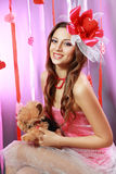 Härlig valentinkvinna Royaltyfria Bilder