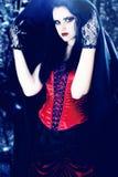 härlig vampyr Arkivfoton