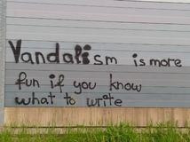 Härlig vandalism royaltyfri fotografi