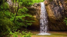 Härlig vattenfall i den Krim skogen lager videofilmer
