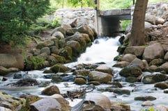 Härlig vattenfall i Gdansk Oliwa, Polen Royaltyfria Bilder