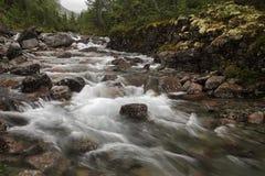 Härlig vattenfall i Hibiny Fotografering för Bildbyråer