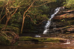 Härlig vattenfall i New South Wales, Australien Arkivbild