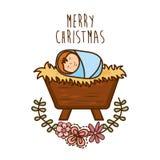 härlig vektor för juldesignillustration Arkivbilder