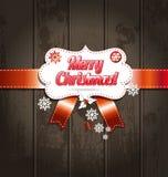 härlig vektor för juldesignillustration lyckligt nytt år för kort Arkivbilder