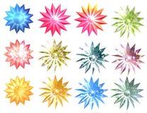 härlig vektor för julillustrationstjärnor Royaltyfri Foto