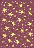 härlig vektor för julillustrationstjärnor Arkivbilder