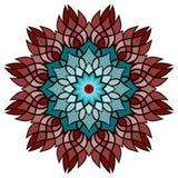 Härlig vektormandalablomma Dekorativt runt blom- objekt Arkivbilder
