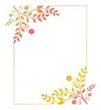 Härlig vertikal blom- ram med lutningpåfyllningen Royaltyfri Bild