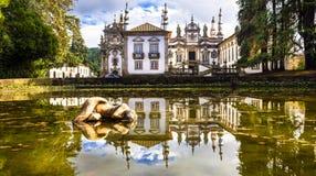 Härlig Vila verklig slott i Portugal (casaen de Mateus) arkivfoton