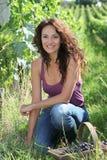 härlig vingårdkvinna Fotografering för Bildbyråer