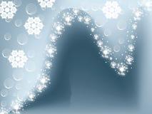 härlig vinter för bakgrund Arkivfoton