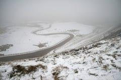 Härlig vinterlandskapbild runt om Mam Torbygd i P arkivbilder