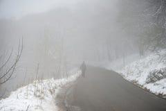 Härlig vinterlandskapbild runt om Mam Torbygd i P royaltyfria bilder