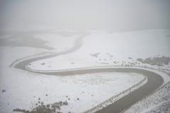Härlig vinterlandskapbild runt om Mam Torbygd i P arkivfoto