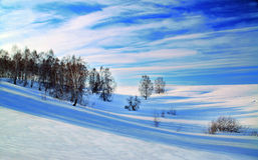 Härlig vinterliggande Arkivfoto