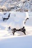 Härlig vinterplats Arkivfoto