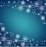 Härlig vinterram som göras av snöflingor Arkivbild