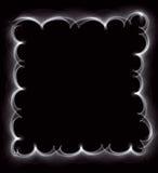 Härlig vitabstrakt begreppram av en rök på a Royaltyfri Foto