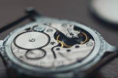 härlig watch för tappning för mekanismfoto mycket Fotografering för Bildbyråer