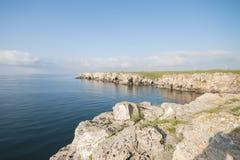 Härlig waterscape i Bulgarien Arkivfoto