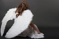 härlig white för ängel arkivfoton