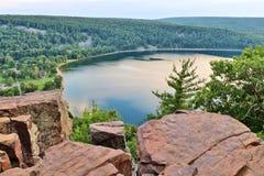 Härlig Wisconsin naturbakgrund royaltyfri bild