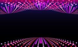 Härlig xo för xo för bakgrund för konfettivektorhjärtor stock illustrationer