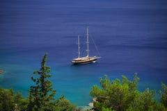 härlig yacht Fotografering för Bildbyråer