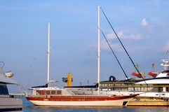 Härlig yacht Royaltyfri Fotografi
