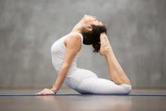 Härlig yoga: Den kungliga kobran poserar Arkivbild