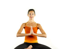 Härlig yogakvinna Arkivbilder