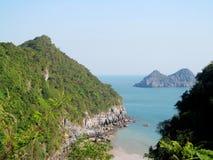 Härliga öar i havet royaltyfria foton