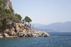 Härliga öar och berg Arkivbild