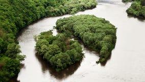 Härliga öar på den stora floden lager videofilmer