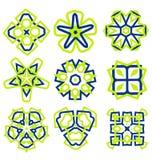 Härliga abstrakta blommaprydnader Arkivbild