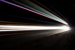 Härliga abstrakta ljus i en biltunnel Royaltyfri Bild