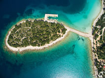 Härliga Adriatiska havet, Kroatien Arkivbilder