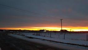 Härliga Alberta Sunset Arkivbilder