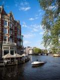 Härliga Amsterdam under vårsäsongen 2013 Fotografering för Bildbyråer